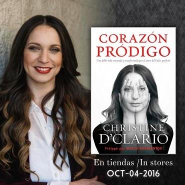 Christine D'Clario presenta su primer libro en Expolit